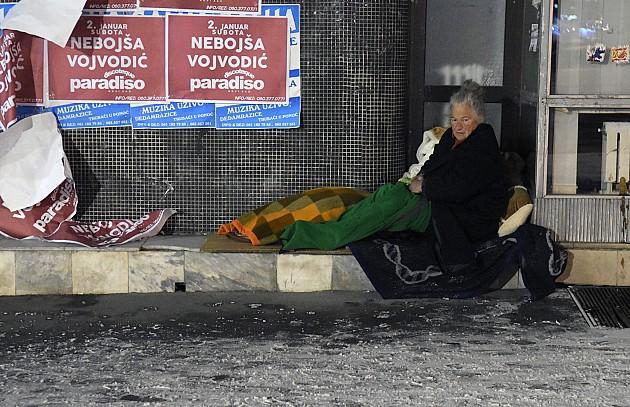 Baka se smrzava u centru Novog Sada