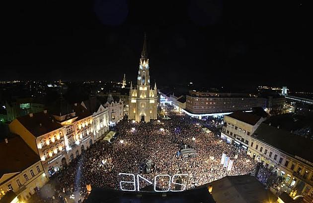 20.000 ljudi u centru na sinoćnjem dočeku Nove godine
