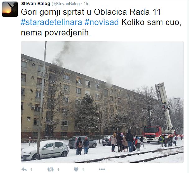 Požar u Novom Sadu, poginula jedna osoba