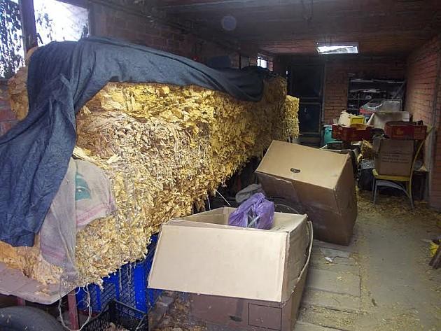 Zaplenjeno 845 kg duvana