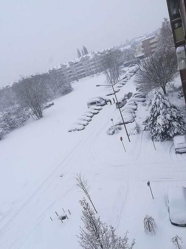 Novi Sad zavejan dočekao jutro, na sremskoj strani do 60 cm snega