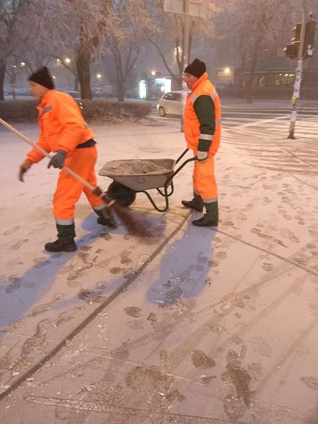 Zabeleo se Novi Sad, palo i malo snega