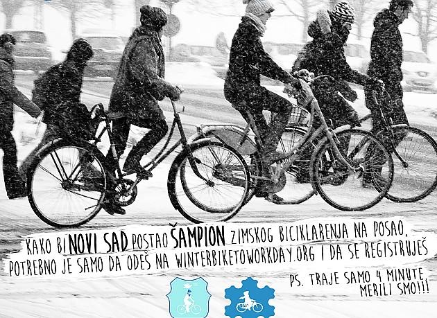 Novi Sad u trci za grad u kome najviše ljudi zimi ide biciklom na posao