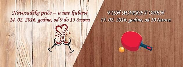 Proslava ljubavi, degustacija vina i slatkiša i turnir u stonom tenisu na Ribljoj pijaci