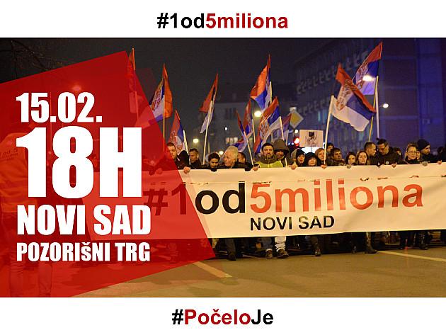 """Protest """"Jedan od pet miliona"""" i na Dan državnosti"""