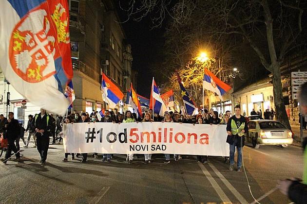 "Održan deveti protest ""Jedan od pet miliona"""