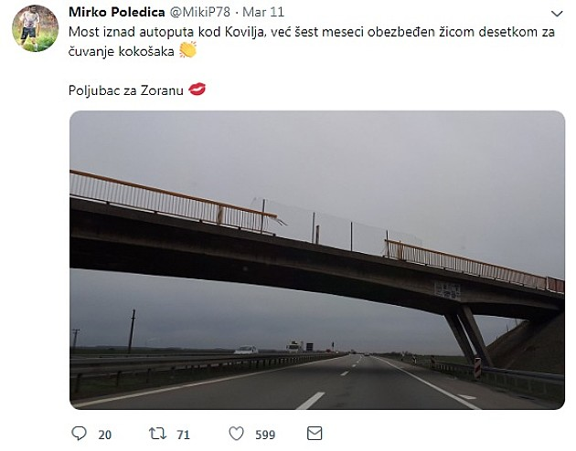 Tri meseca most bio bez odgovarajuće ograde, reagovali nakon upozorenja na društvenim mrežama