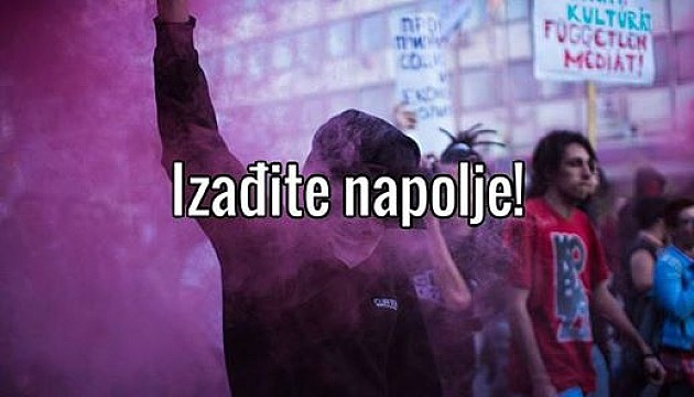 "Večeras se nastavljaju protesti ""Protiv dikatature"""