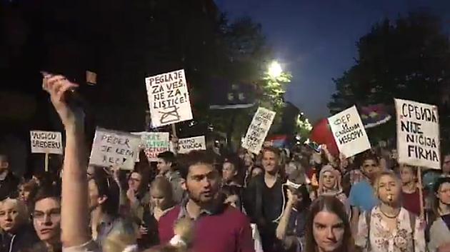 """Usaglašeni zahtevi na """"Protestu protiv diktature"""""""