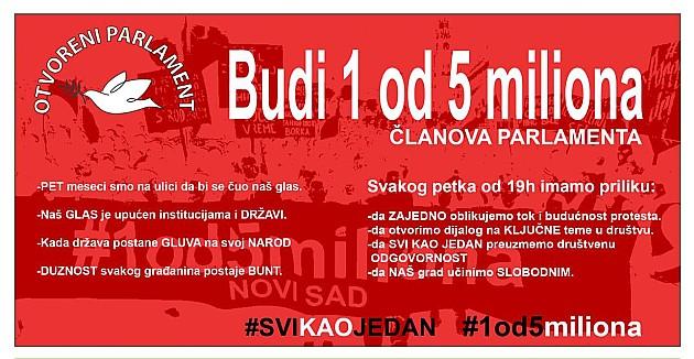"U petak novi protest ""Jedan od pet miliona"""