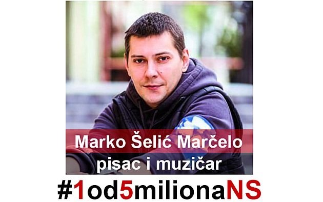 "Siniša Kovačević i Branislav Lečić na protestu ""Jedan od pet miliona"", Marčelo pred studentima"