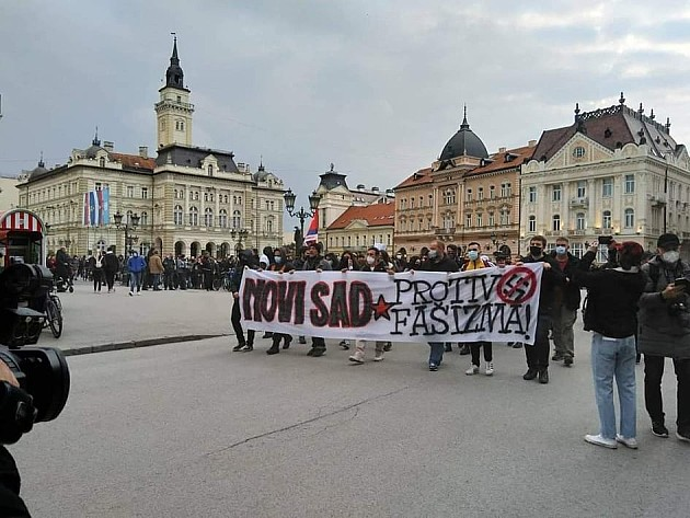 """Održan protest """"Novi Sad protiv fašizma"""""""