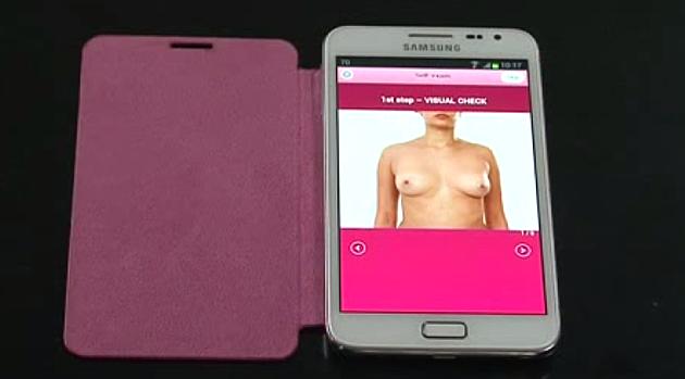 Pregled dojke pomoću mobilnog telefona