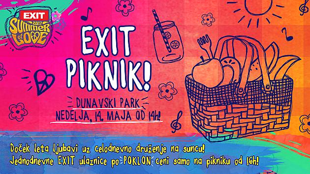 Exit piknik u nedelju u Dunavskom parku