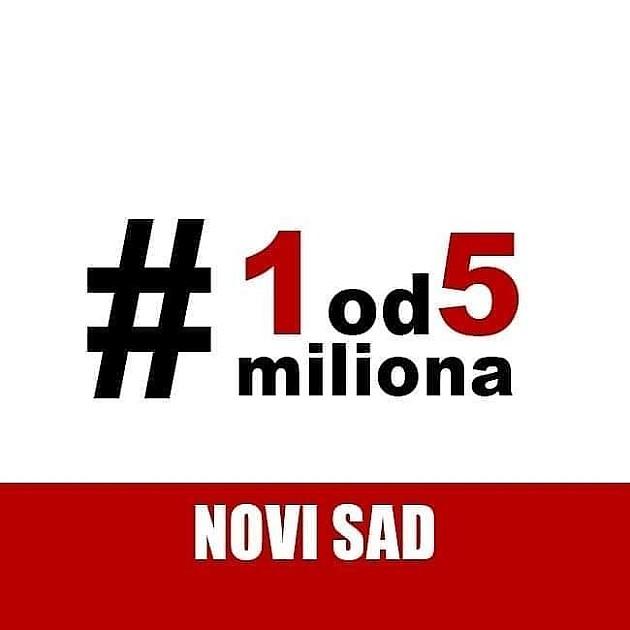"""Naredni protest """"Jedan od pet miliona"""" u Novom Sadu tek 8. juna"""