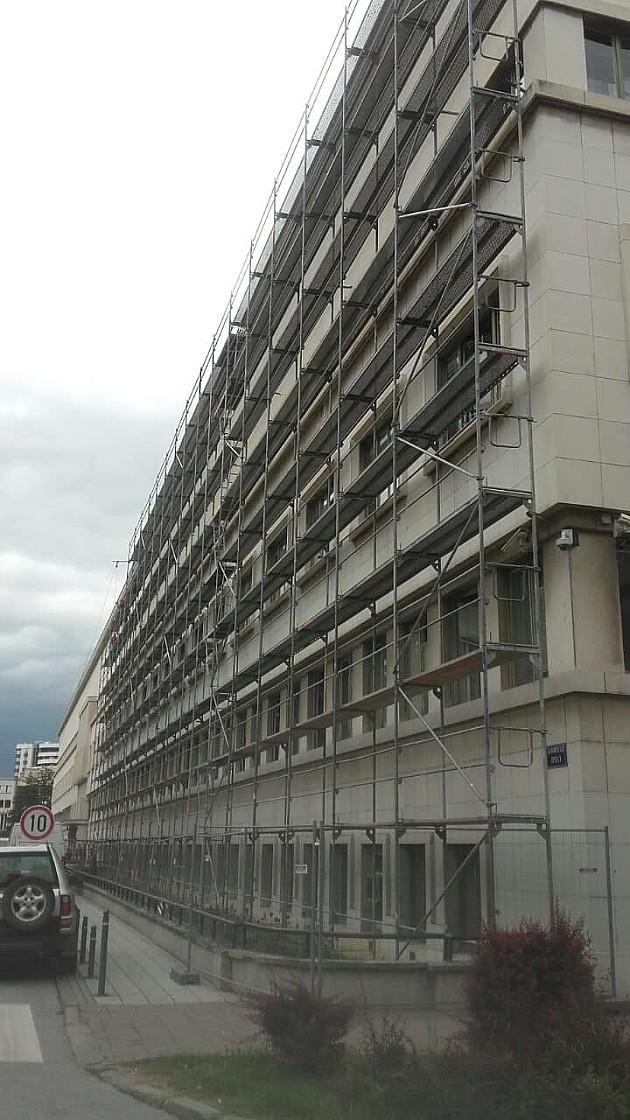 U toku rekonstrukcija fasade zgrade Banovine