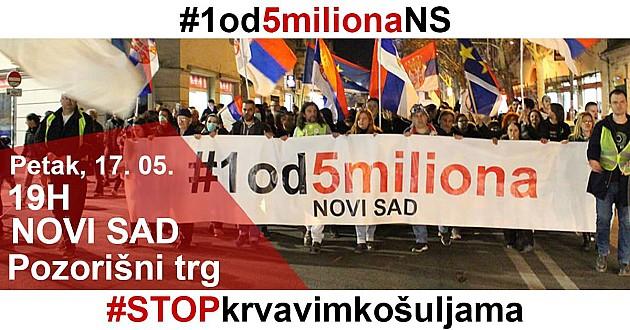 Ponovo protestne šetnje petkom u Novom Sadu