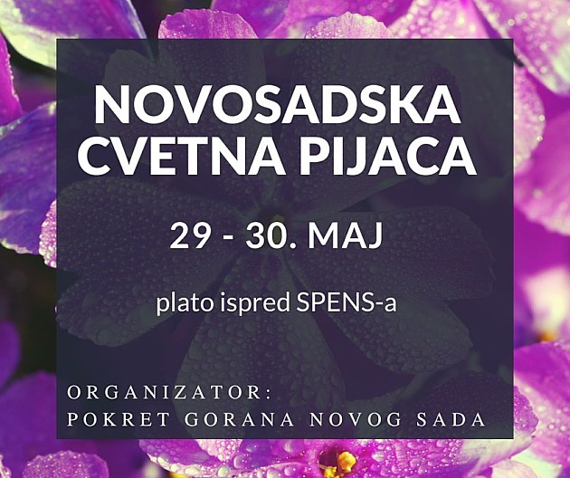 Novosadska cvetna pijaca 29. i 30. maja na platou Spensa