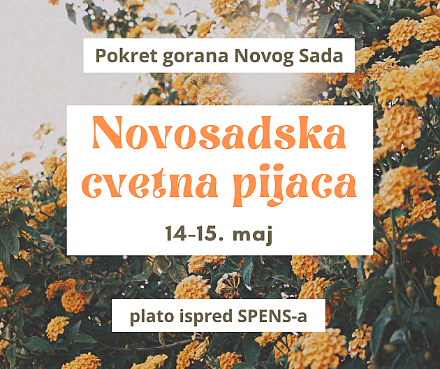 I ovog vikenda Novosadska cvetna pijaca
