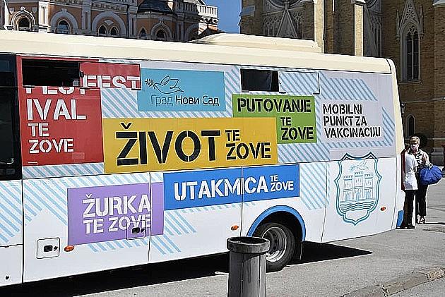 Mobilni punkt za vakcinaciju za vikend u centru, prvih 20 vakcinisanih dobija ulaznice za Exit