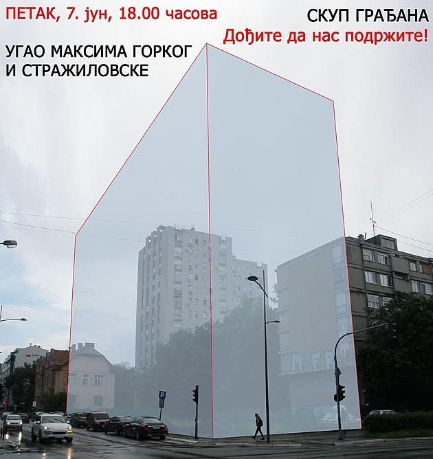 U petak ponovo protest protiv seče parkića zbog podzemne garaže