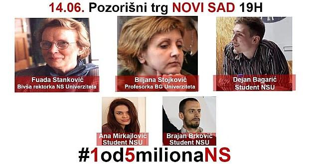 """Protest """"1 od 5 miliona"""" posvećen borbi protiv nasilja"""