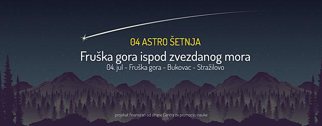 Šetnja pod zvezdama 4. jula na Fruškoj gori