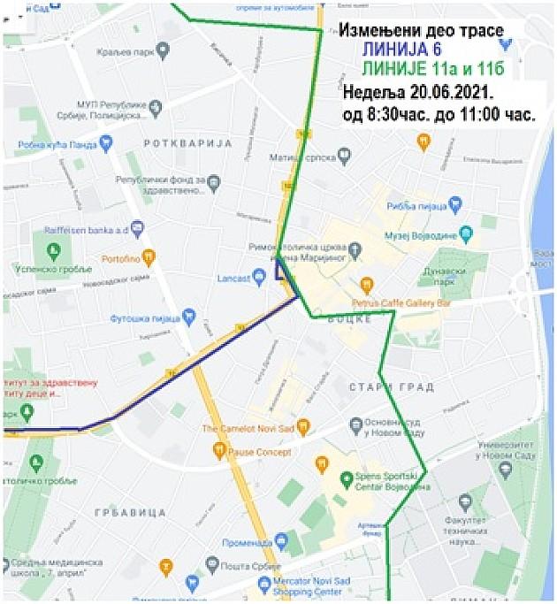 Autobusi na linijama 6, 11a i 11b u nedelju menjaju trasu