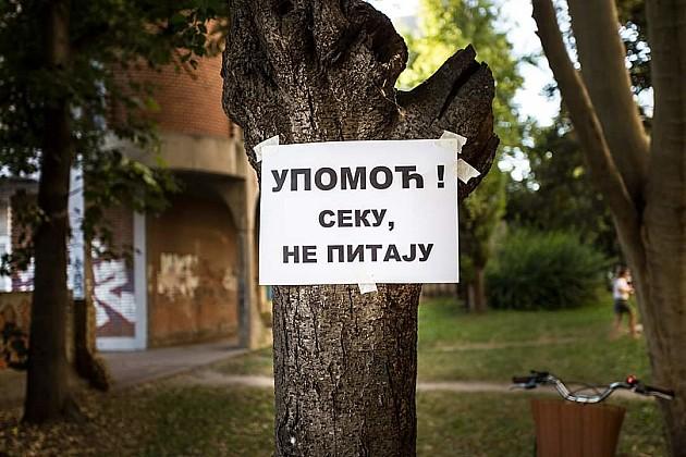 Sutra novi protest protiv izgradnje zgrade na Bulevaru oslobođenja