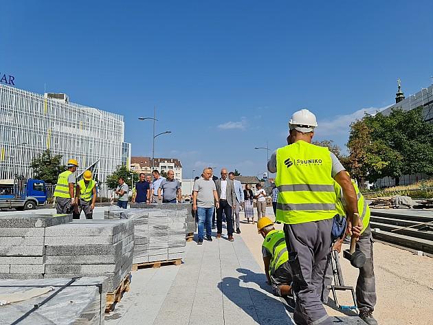 Napreduju radovi na uređenju Pozorišnog trga i Uspenske ulice