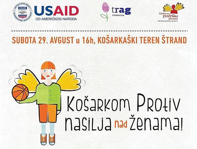 """""""Košarkom protiv nasilja nad ženama"""" sa novosadskim košarkašicama"""