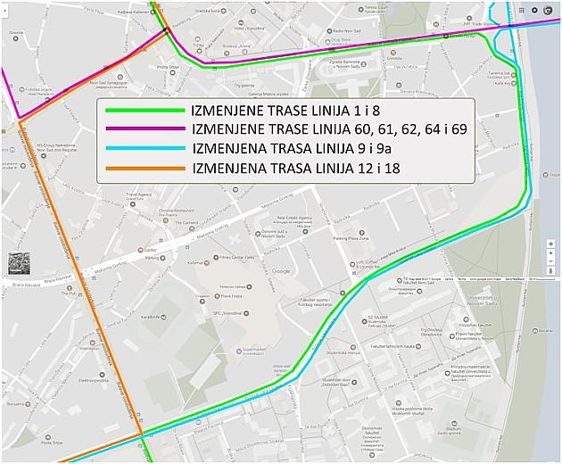 Četvorka ne saobraća do 5. septembra, trase menja još desetak linija GSP-a