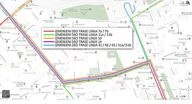Čak 11 autobusnih linija koje saobraćaju Bulevarom Jaše Tomića od sutra menjaju trase