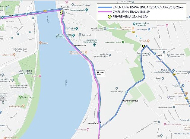 Ovog vikenda izmena režima saobraćaja u Gradiću, pojedini autobusi GSP-a menjaju trase