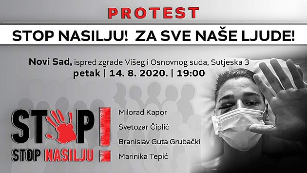 U petak protest zbog napada na novosadskog aktivistu Milana Vujića