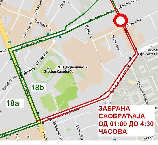 Privremena izmena linija 18A i 18B