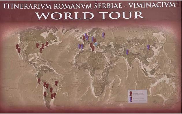 Biste rimskih imperatora i replika Viminacijuma u Novom Sadu