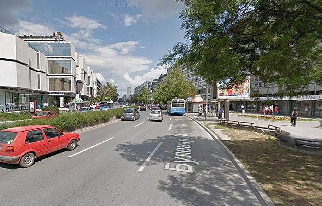 Zabrana prolaza za pešake na delu Bulevara Mihajla Pupina