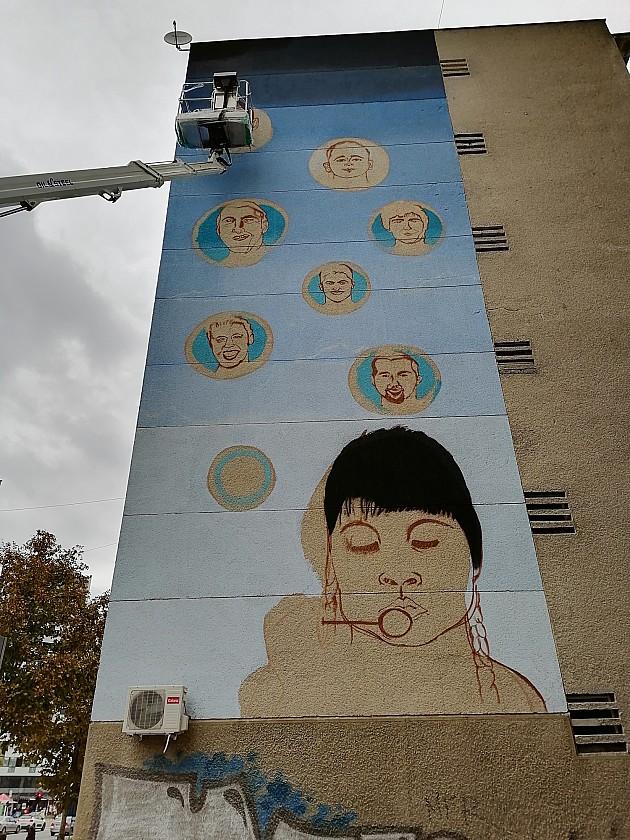 Mural posvećen košarkaškim legendama na Bulevaru oslobođenja