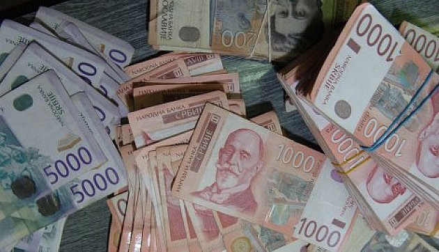 Falsifikati od 500, 1000 i 2000 dinara