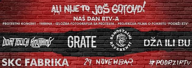 Protestni koncert na dan RTV-a
