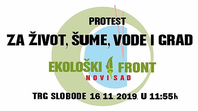 "Protest ""Za život, šume, vode i grad"" sutra na Trgu slobode"