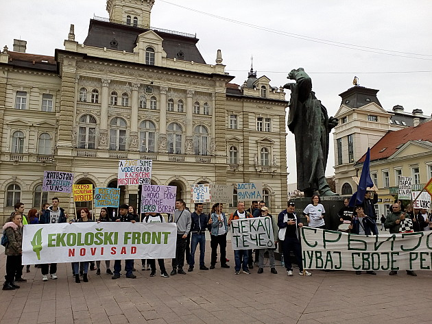 """Protest ekoloških aktivista """"Za život, šume, vode i grad"""""""