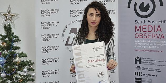 Milica Alavanja - najbolja mlada novinarka
