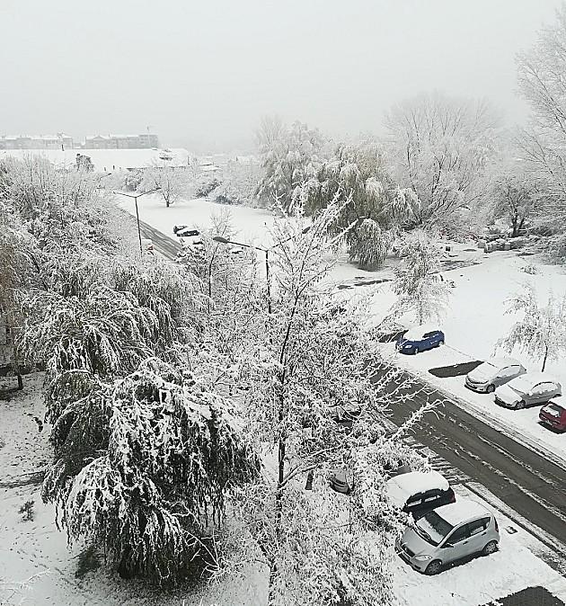 Prvi sneg u Novom Sadu nije izazvao veće probleme