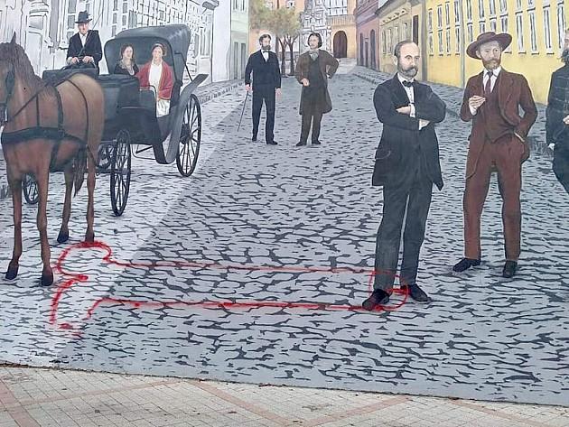"Osvanuo ""kural 4.0"" na muralu ""Srpska Atina"""